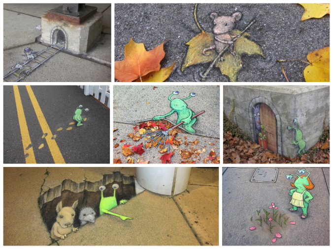 Painting a Fairy tale on the Streets by David Zinn @davidzinn_art
